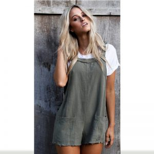 Women's Casual Style Cotton Jumpsuits