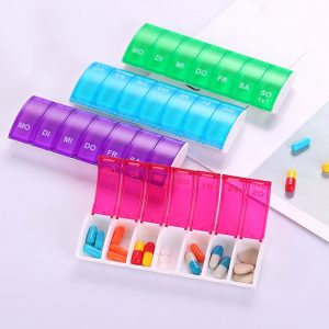 Portable Weekly Pill Organizers