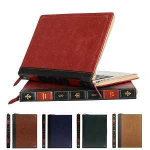 Vintage Book Styled PU Leather Case for MacBook