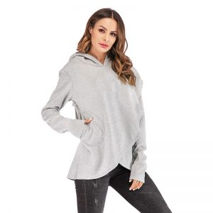Women's Embroidered Pocket Hoodie