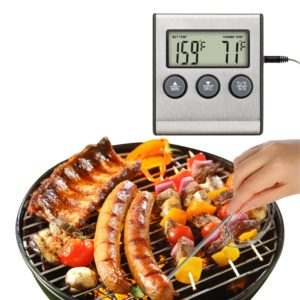 LCD Display Meat Probe Digital Kitchen Thermometer
