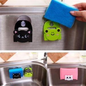 Cartoon Style Animal Cleaning Sponge Holder for Kitchen