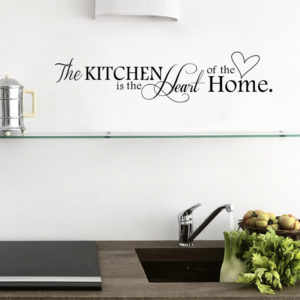 """Letter Pattern Wall Sticker for Kitchen """"Kitchen is Heart of the Home"""""""