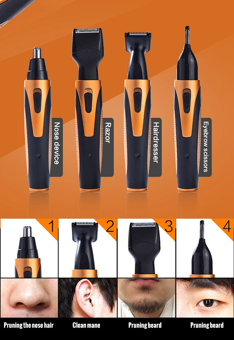 4 in 1 Rechargeable Electric Hair Trimmer