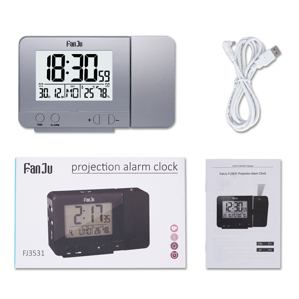 Digital Alarm Clocks with Time Projection