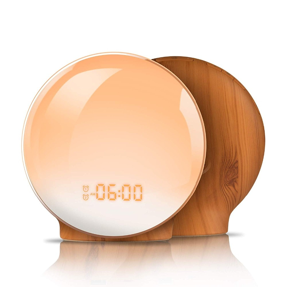 Round Alarm Clocks with Nature Sounds