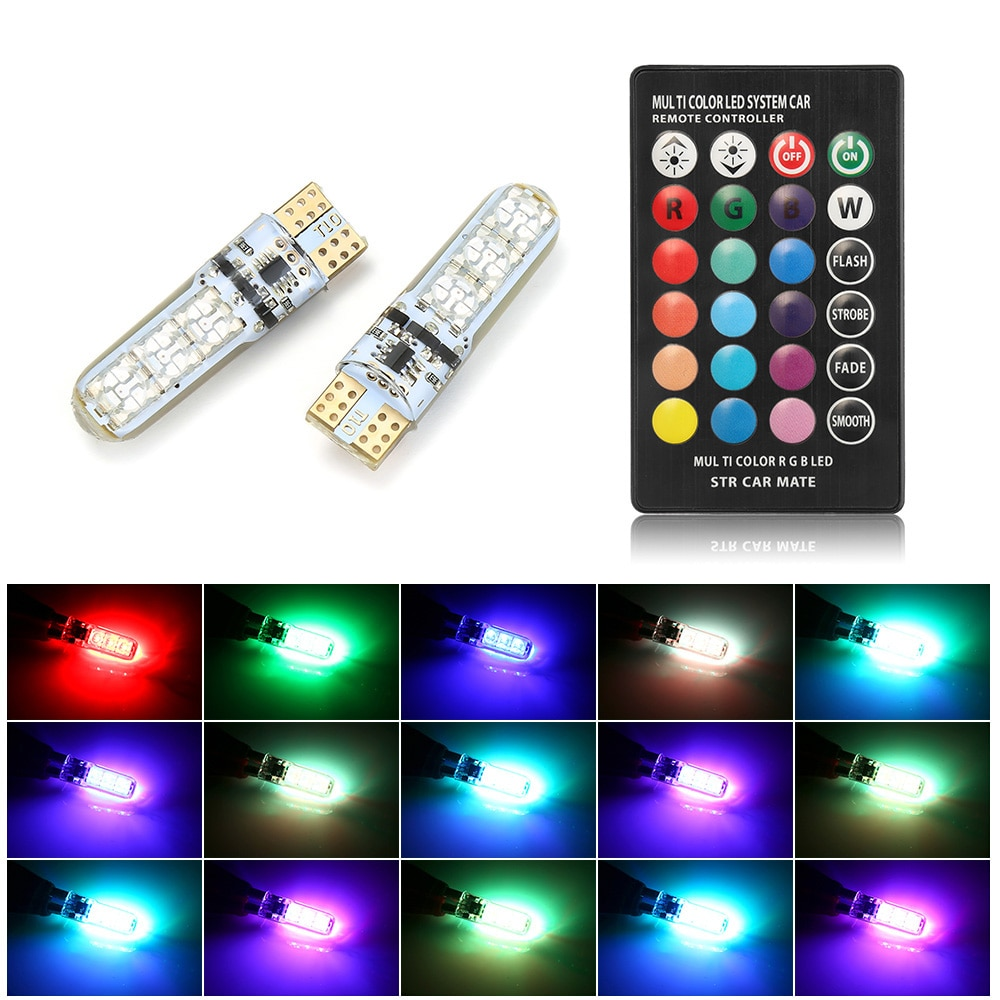 RGB LED Car Lights with Remote Control