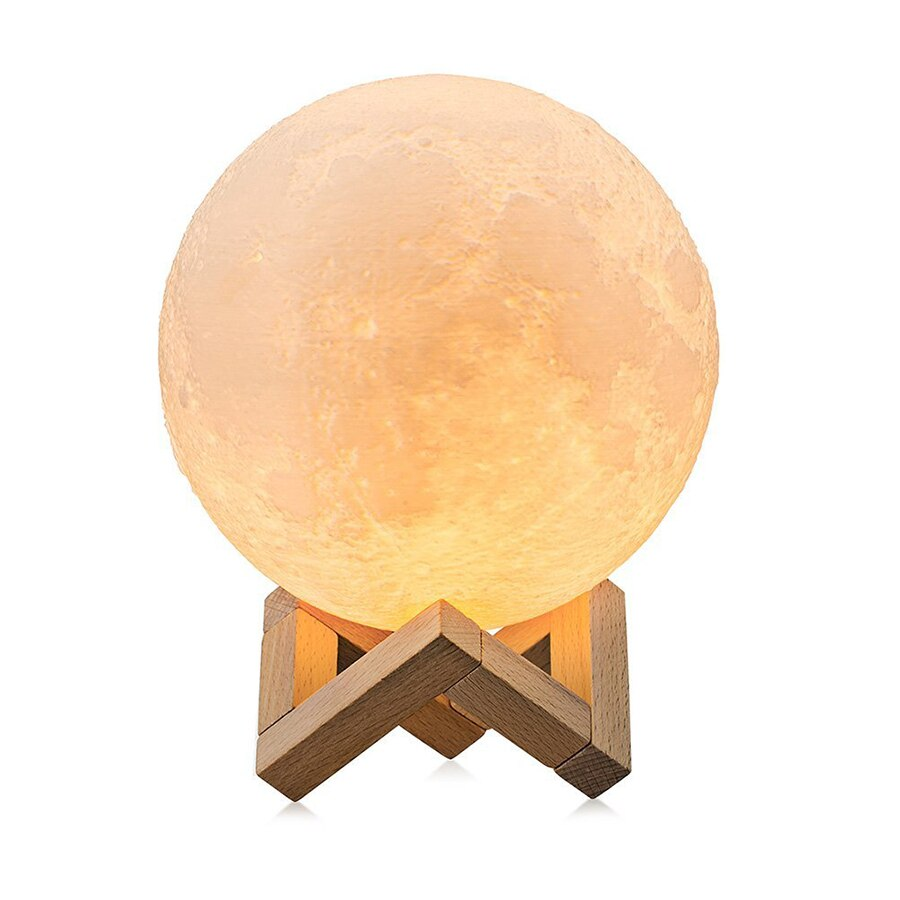 3D Rechargeable Moon Shaped Night Lights