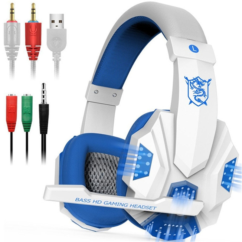 LED Lights Gaming Headset with Mic