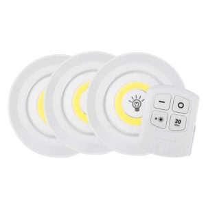 Dimmable Round LED Under Cabinet Lights with Remote Control