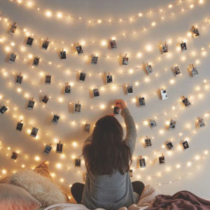 String LED Lights With Clips For Photos