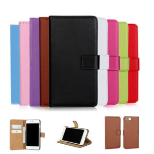 Flip Genuine Leather Phone Cases for iPhone