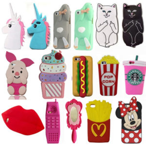 Cartoon 3D Silicone Cases for iPhone