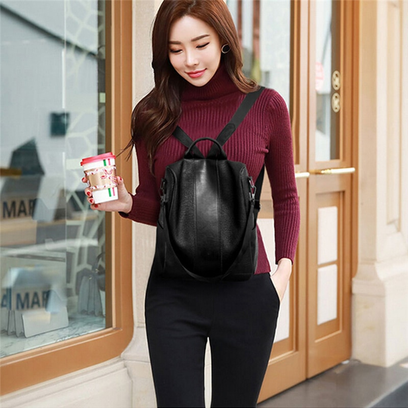 Women's 2 in 1 Design Leather Backpack