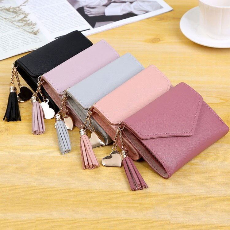 Women's Compact Wallet with Tassel
