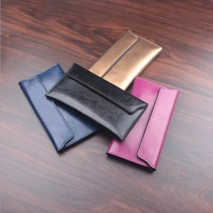 Women's Colorful Leather Envelope Shaped Wallet
