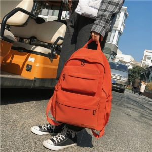 Candy Color Waterproof Travel Backpack