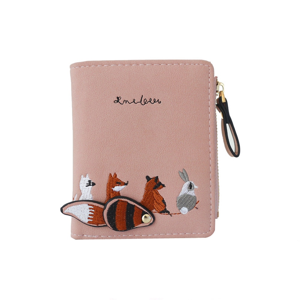 Women's Animal Printed Leather Wallet