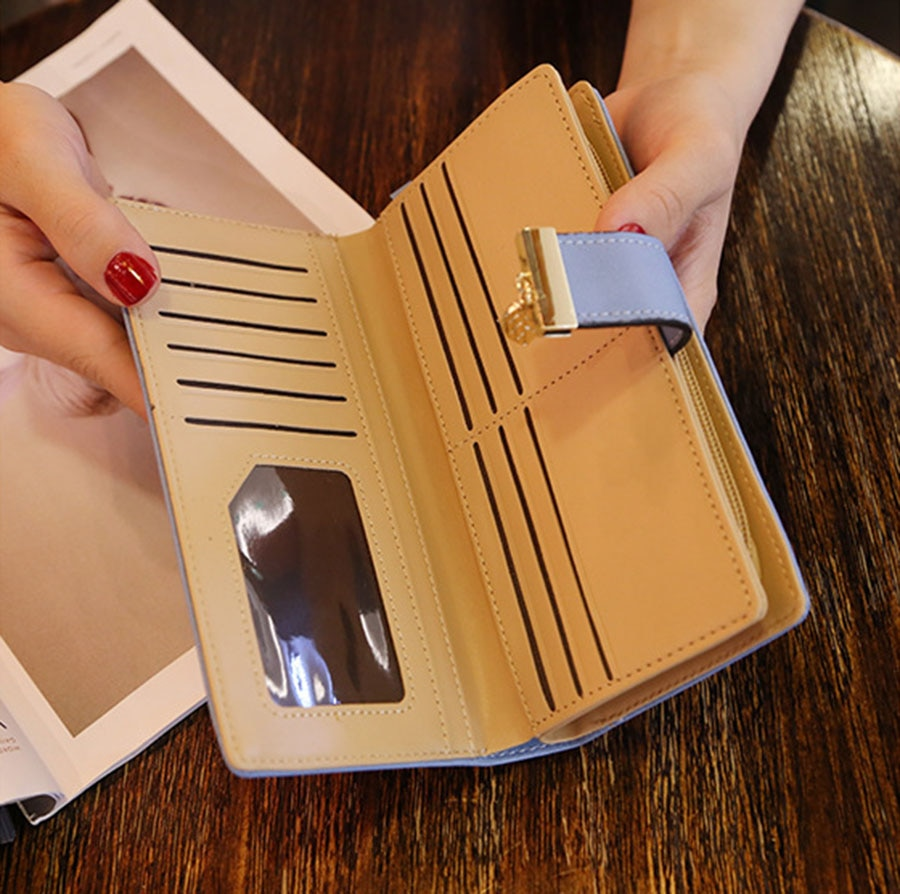 Women's Hollow Out Leaves Decorated Wallet