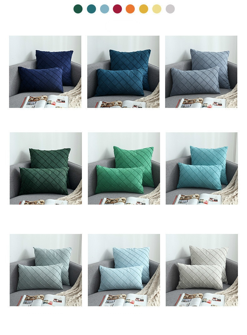 Modern Suede Fabric Cushion Cover