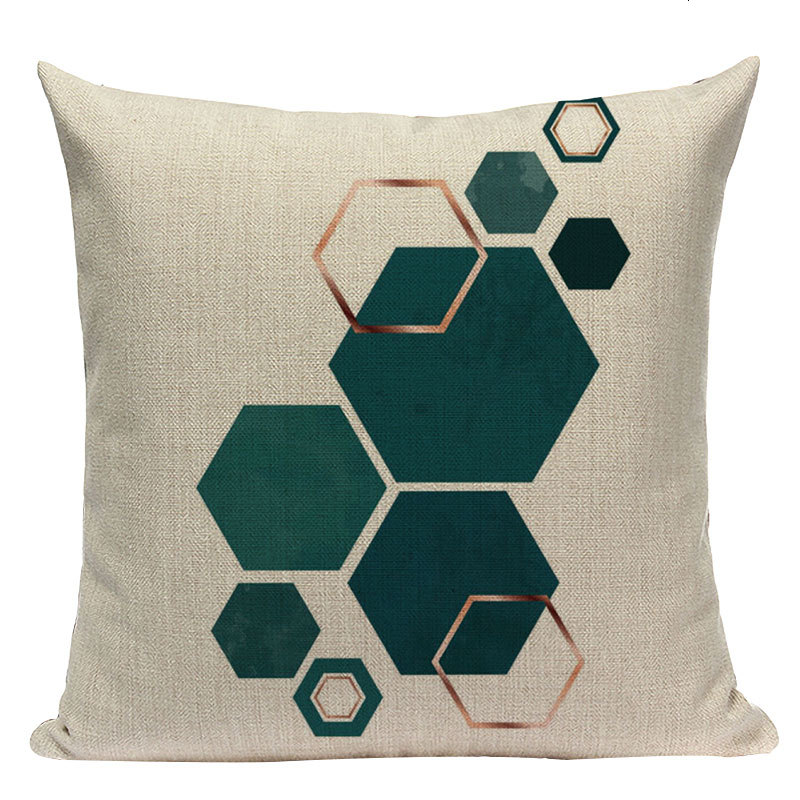 Geometric Patterned Cushion Cover