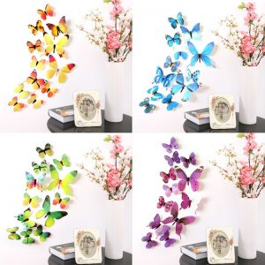 Colorful 3D Butterflies Wall Stickers Set