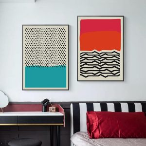 Modern Multicolored Abstract Geometric Wall Poster