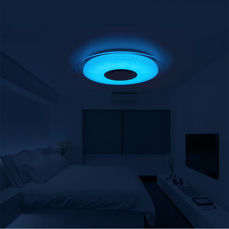 Modern LED Ceiling Lamp with Bluetooth Support