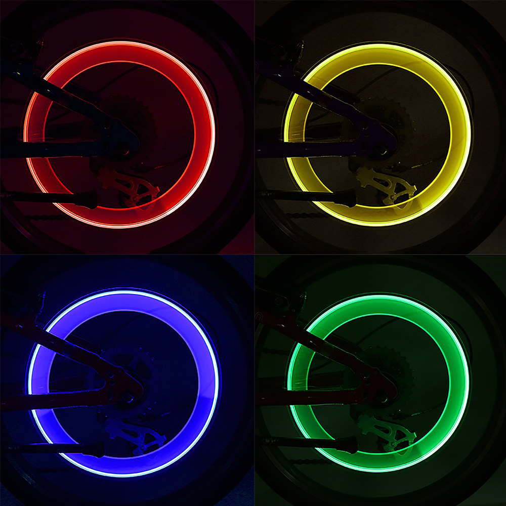 Colorful LED Bicycle Tyre Valve Caps Pair